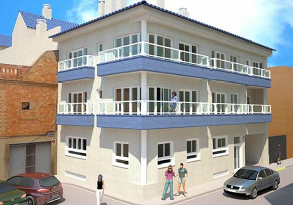 Edificio en Foios (Valencia), 18 viviendas en la calle L´Horta
