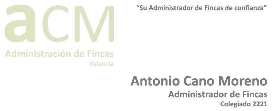 Administraci n de fincas acm valencia antonio cano for Administracion de fincas donostia